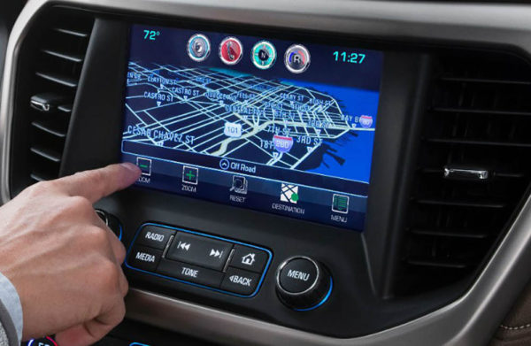 Intellilink Navigation system inside a GMC Acadia