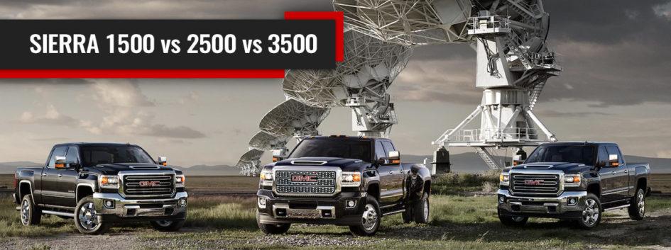 image showing the sierra 1500 sierra 2500 and sierra 3500