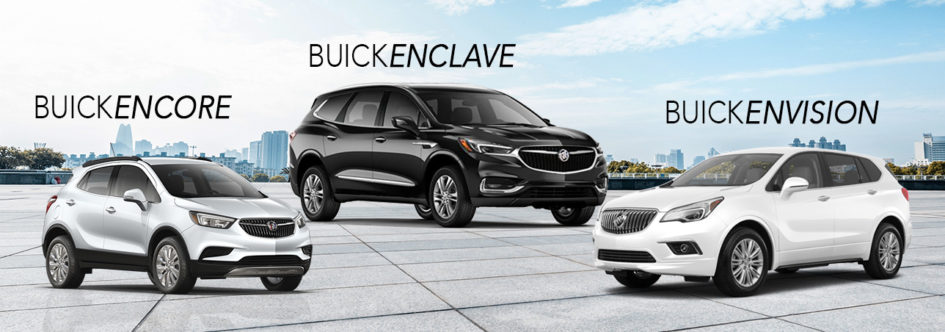 The 3 Buick SUVs: the Encore, Enclave, and Envision.