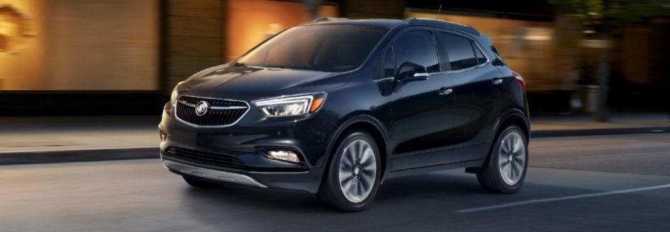2020 buick enclave driving through the city